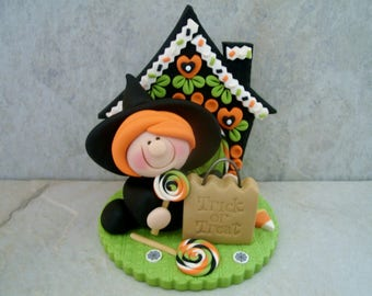 Witch - Trick or Treat - Polymer Clay - Halloween - Figurine