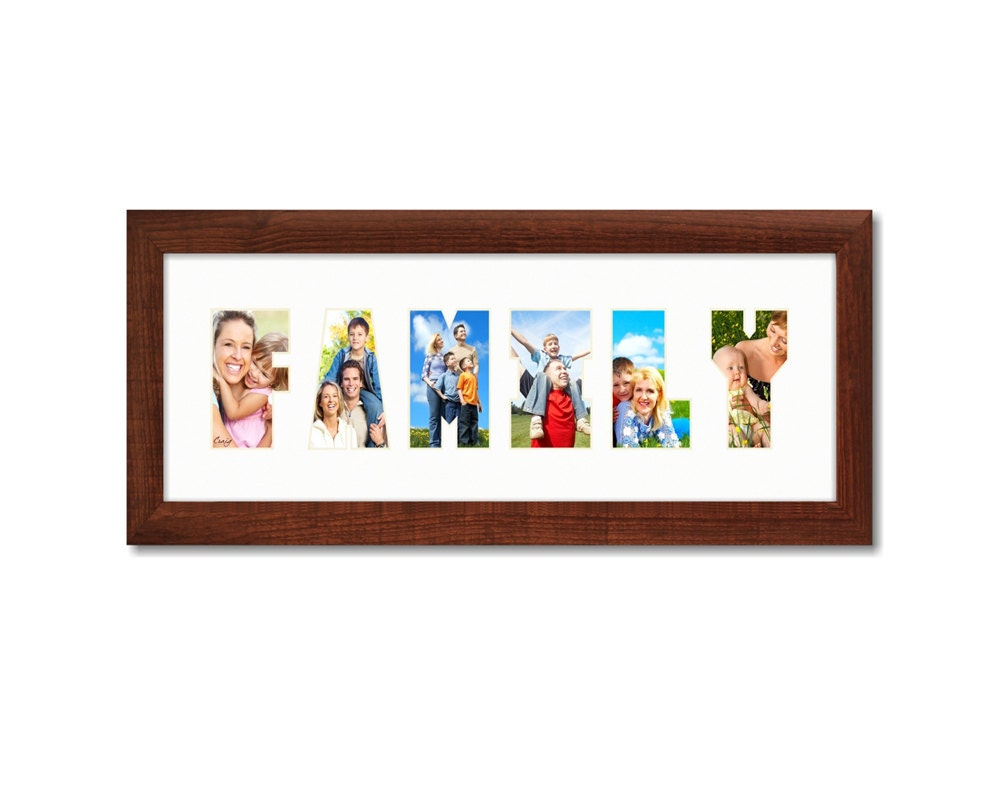 Craig frames 6x18 modern brown picture frame with for Modern collage frame