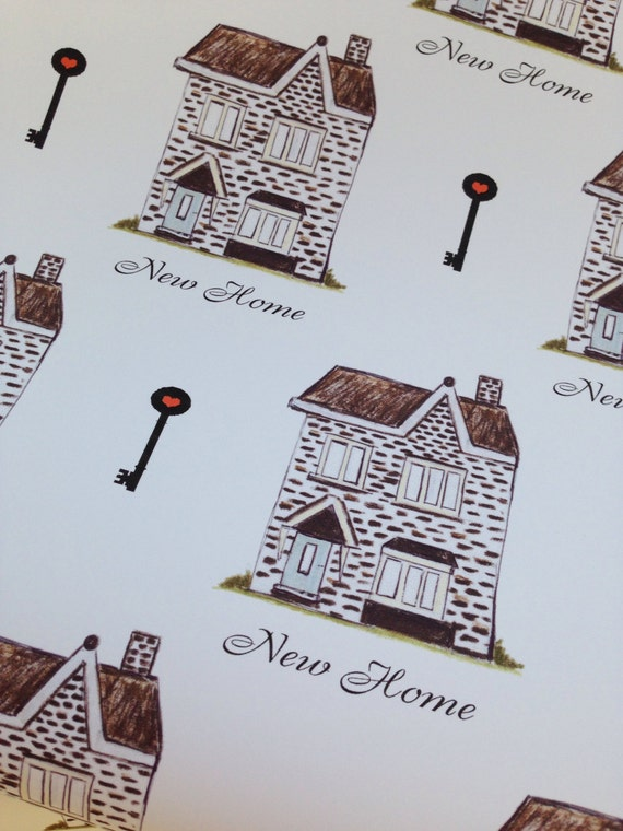 New Home Wrapping Paper Gift Wrap Homes Houses Moving