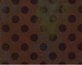Grunge Hits the Spot - Dots in Hot Cocoa - Basic Grey for Moda - 30149-14 - 1/2 yard