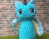 Blue toddler dragon