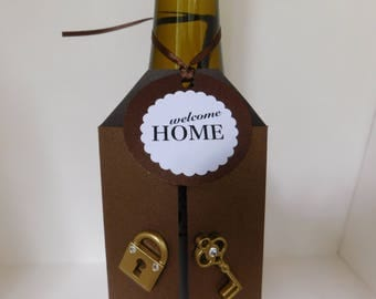 Wine Tag - New HomeTag - Host gift - wine gift giving - welcome home tag - wine gift tag - housewarming tag - housewarming gift - new home
