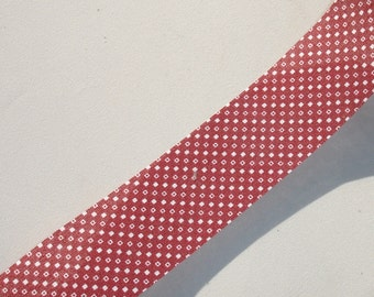 Vintage Brick Red Fabric Ribbon - 1.25 inch Wide - 3 Yards