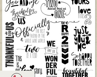 Digital and Printable Overlay Word Set Art - Instant Download - Photography - Us