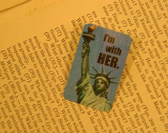 Solidarity Jewelry anti Trump lapel pin brooch Statue of Liberty I'm with Lady Liberty