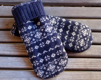 Mittens, Sweater Mittens, Wool Mittens, Upcycled Wool Sweater Mittens, Felted Sweater Mittens, Wool Gloves, Recycled Wool Sweater Mittens