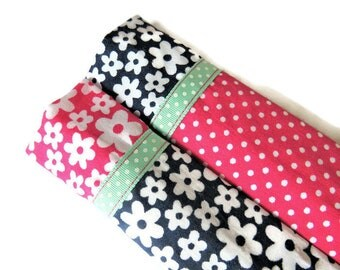 2 x Protective Sleeves For Emery Board - Nail File Case - Emery Board Cover - Fabric Nail File Sleeves - Fabric Emery Board Sleeves