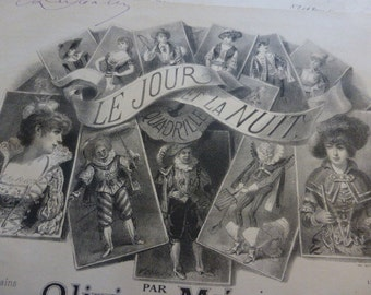 3 Victorian Music Sheets, Scores, French Illustrated Covers