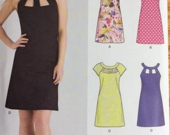 Pattern For Misses' Dress Seven Sizes in One New Look K6429 - Uncut Size 10 12 14 16 18 20 22 Short Sleeve Dress Sleeveless Dress