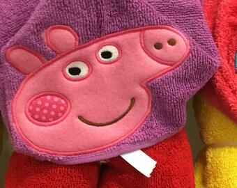 Peppa Pig Hooded Towel