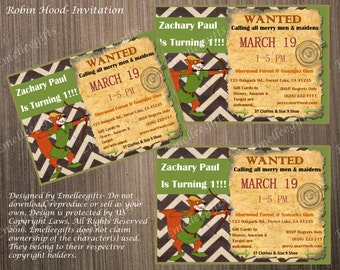 Robin Hood Invitation