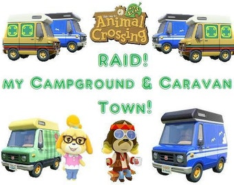 Caravan Raid Town: Get All the RV & Harvey's Campground Items!!! (Animal Crossing Items)
