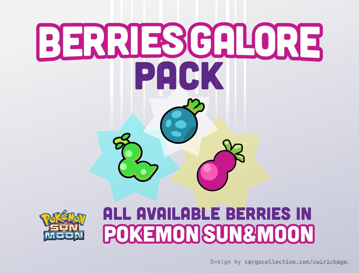 item bundle you pick 12 berries pokemon sun and moon
