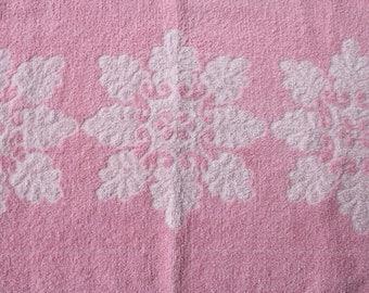 Vintage Pink Flower Hand Towel