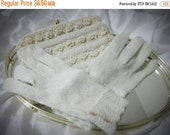 Limited Time Sale Gorgeous Sparkly White Acrylic-Polyester Knit Gloves