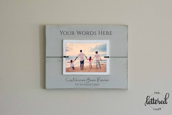 Custom Photo Frame, Personalize, Picture Frame, Gallery Wall, Customize, Create your own frame, Mom Dad Gift, Grandparent Present