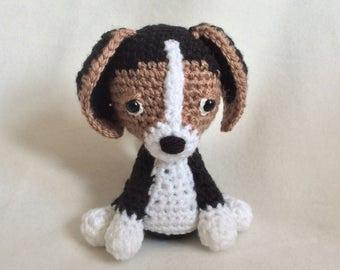 Crochet Beagle Pup Puppy Dog Handmade Wool Soft Toy Gift