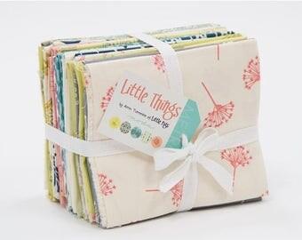 20% Off Sale Little Things ORGANIC Fat Quarter Bundle by Arrin Turnmire for Moda - One Fat Quarter Bundle - 14090AB
