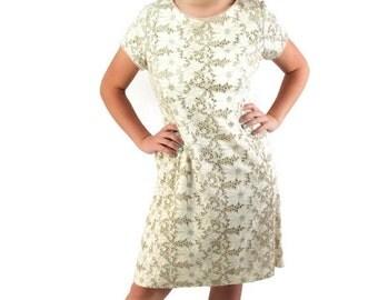 On Sale 60s Lady Petite Dress Cutwork Ecru Lace Mad Men Party Wiggle Dress