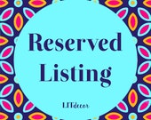 Reserved Listing for Jan