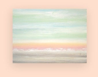 Art, Large Painting, Original Abstract, Acrylic Paintings on Canvas by Ora Birenbaum Titled: Pastel Dreams 30x40x1.5""
