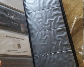 Business card Holder portfolio organizer keeper leather