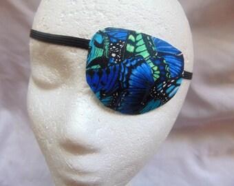 Woman's handmade eye patch/butterfly motif/vision accessory/cataract aid/eye care/health & beauty/blind eye aid/ocular aid/sparkle finish