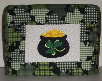 St Patrick's Day Toaster Cover, Pot of Gold. Irish Shamrocks
