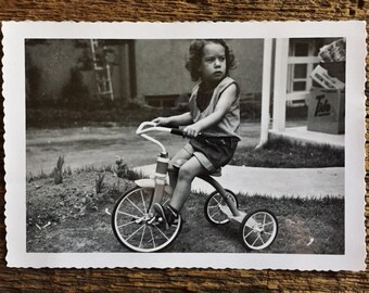Original Vintage Photograph Darby's Tricycle