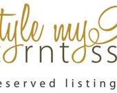 Reserved listing for Deborah DePasquale
