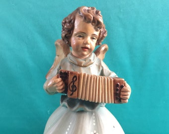 Vtg. Anri Angel Music Box Silent night  Reuge Vintage