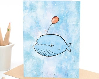 Ellis the Miserable Whale  - Greeting card