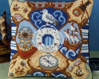 All at Sea Mini Cushion Cross Stitch Kit