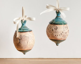 Handmade ceramic ornament