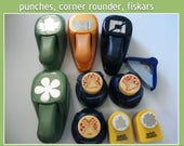 DESTASH - Punches,Corner Rounder,leaf punch, butterfly punch, decorative border punch, border punches, corner punches,