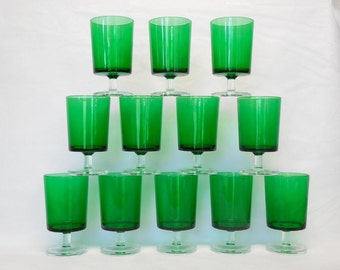Luminarc Glasses Green for Christmas