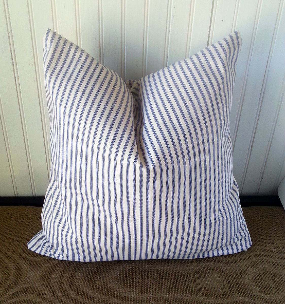 Blue Striped Decorative Pillows : Blue Stripe Pillow Blue Stripe Pillow Cover Blue Striped