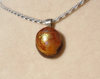 Mexican Fire Agate Pendant with Italian Sterling Silver 2MM Diamond-Cut Wheat Chain 20 Inches