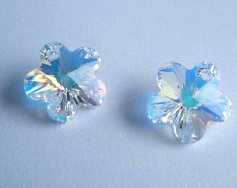 SWAROVSKI 6744 Flower crystal pendant Crystal AB SPARKLE