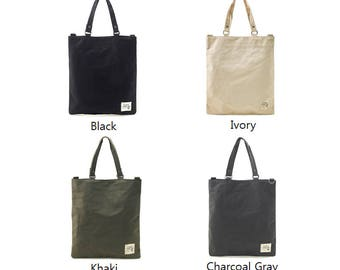 Simple Daily Canvas Tote and Messenger Bag(4 colors)