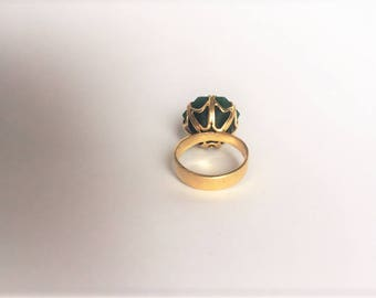 Jade Statement Piece - Gold Ring