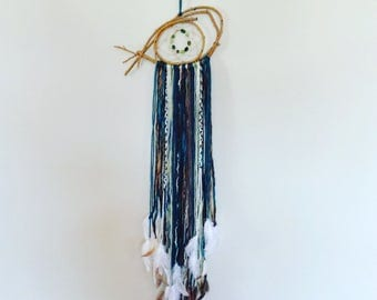 Pisces, Dreamcatcher by artist Christine Simpson of Red Raven Designs. MADE TO ORDER