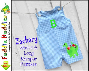 Zachary Toddler Boys Romper Sewing Pattern pdf, Jon Jon Pattern, Infant Sewing Pattern, Boys pdf Sewing pattern, Jon Jon Sewing Pattern pdf,