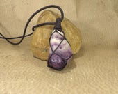 Amethyst Pendant - February Birthstone - Discovery Intuition Meditation - Reiki Pendant Reiki Jewelry