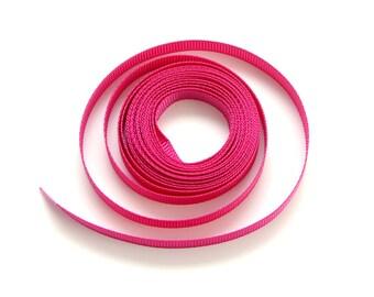 Dark Pink Grosgrain Ribbon
