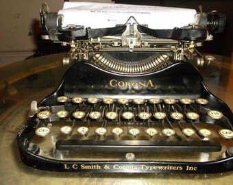 corona 3 typewriter etsy. Black Bedroom Furniture Sets. Home Design Ideas