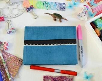 Blue Velvet Handmade Book Journal Sketchbook