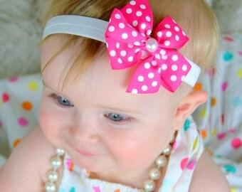 Baby Headband. Baby Bows. Bow and Headbands. Bows. Hair Bow. Infant Headband. Headband, Pink Headband, Baby Girl Gift. Set. Bow. Baby
