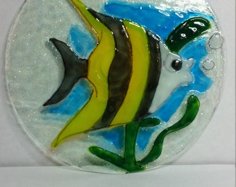 Angelfish Suncatcher Recycled CD 368