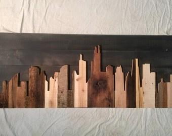 "Hand Crafted Chicago 48"" Skyline"